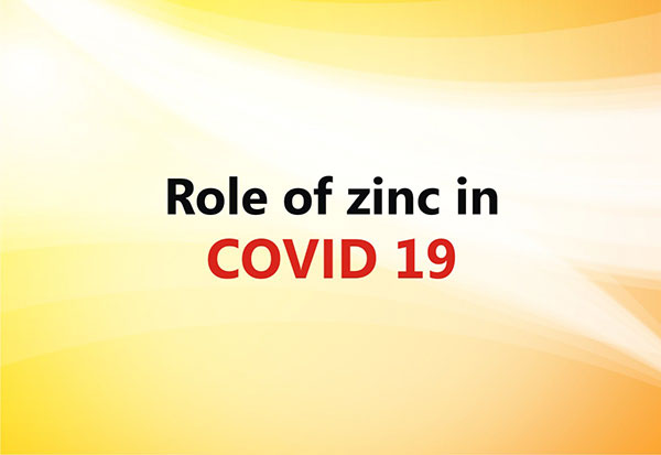 Zinc can play important role in extenuating covid19