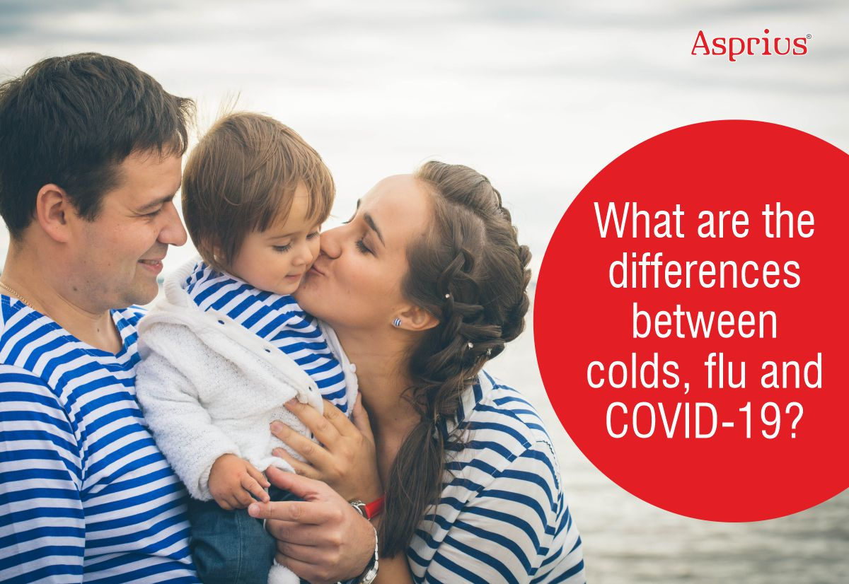 What are the differences between Colds, Flu and COVID-19?